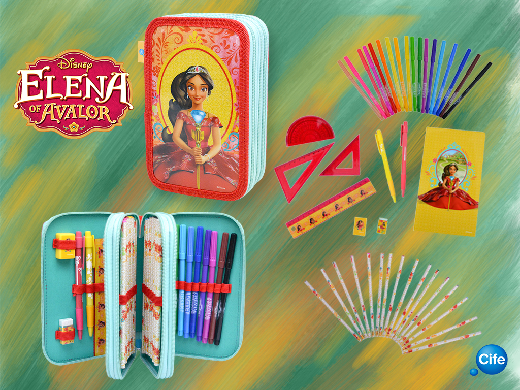 Estuche Triple Elena de Avalor