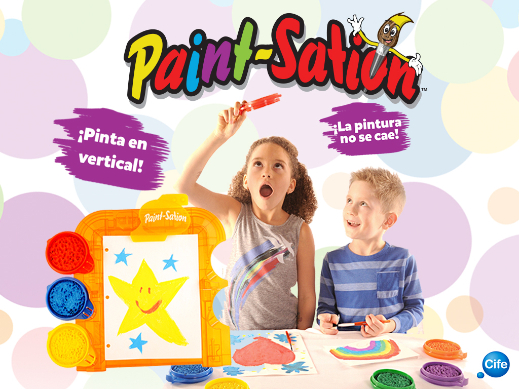 pintura infantil pizarra paint-sation